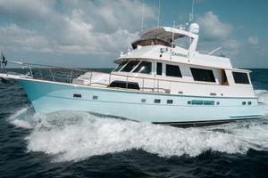 63' Hatteras 63 Cockpit Motor Yacht 1987 Port Profile Running