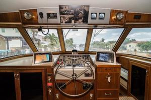 63' Hatteras 63 Cockpit Motor Yacht 1987 Lower Helm