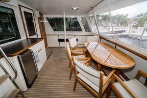 63' Hatteras 63 Cockpit Motor Yacht 1987 Aft Deck Stbd