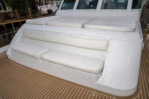 63' Hatteras 63 Cockpit Motor Yacht 1987 Sun Pad and Seating