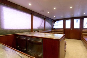 58' Garlington 58 Convertible 1988 Starboard Galley Looking Aft
