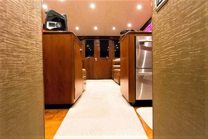 58' Garlington 58 Convertible 1988 Galley Looking Aft