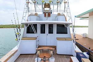 58' Garlington 58 Convertible 1988 Transom Shot
