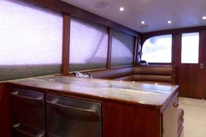 58' Garlington 58 Convertible 1988 Galley Starboard
