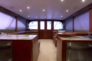 58' Garlington 58 Convertible 1988 Salon Looking Aft