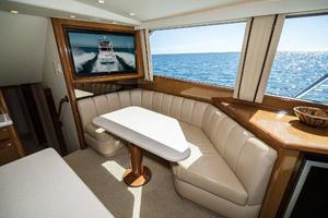 58' Viking 58 Convertible 2000 Dinette and TV