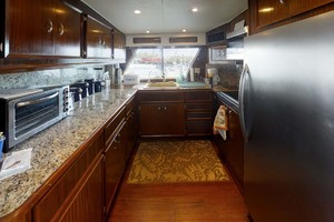 74' Hatteras 74 Motor Yacht 1981 Galley