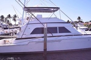 60' Bertram 60 Convertible 1998 Profile at Dock