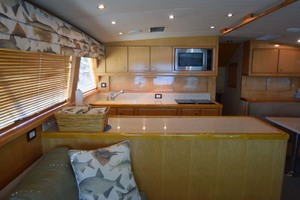 60' Bertram 60 Convertible 1998 Galley View from Salon Port Side