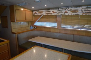 60' Bertram 60 Convertible 1998 Dinner Table Overview