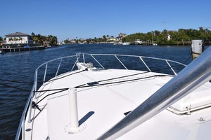 60' Bertram 60 Convertible 1998 Bow Approach from Port