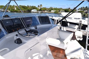 60' Bertram 60 Convertible 1998 Upper Helm and Murray Brothers Helm Chairs