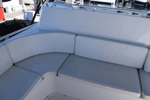 60' Bertram 60 Convertible 1998 Upper Helm Seating Detail