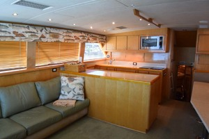 60' Bertram 60 Convertible 1998 Salon to Galley View from Starboard Corner