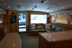 60' Bertram 60 Convertible 1998 Salon and Galley View