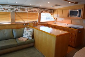 60' Bertram 60 Convertible 1998 Salon and Galley View from Starboard