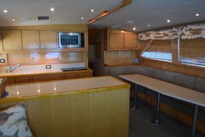60' Bertram 60 Convertible 1998 Galley and Settee View