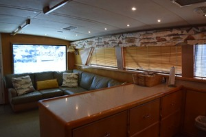 60' Bertram 60 Convertible 1998 Salon and Galley View to Port