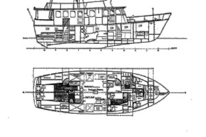 56' Morgan Long Range Cruiser 1971 LAYOUT