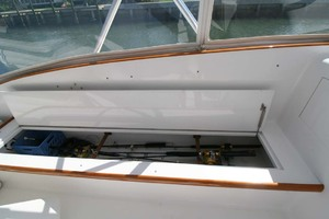 54' Scarborough Ricky Scarborough Custom Carolina Express 2004 Port Rod Locker
