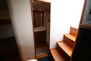 54' Scarborough Ricky Scarborough Custom Carolina Express 2004 Cabin Entry