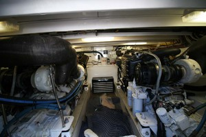 54' Scarborough Ricky Scarborough Custom Carolina Express 2004 Engine Room