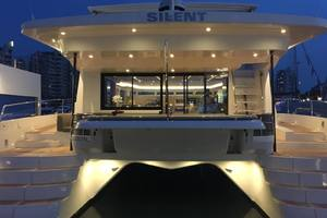 54' Silent-Yachts Silent 55 2019 Stern View - Evening Lights