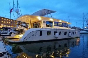 54' Silent-Yachts Silent 55 2019 Evening Lights - Stbd Side