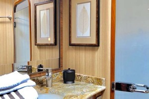 70' Viking Enclosed Bridge 2012 Master Shower and Head