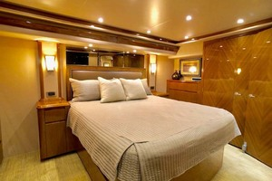 70' Viking Enclosed Bridge 2012 Master Stateroom