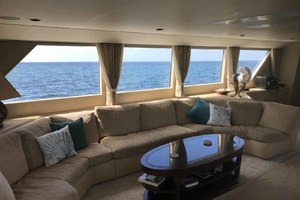 105' Broward Custom Extended 1990 Salon Couch to Port