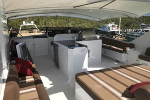 105' Broward Custom Extended 1990 Flybridge Sun Lounge