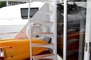 105' Broward Custom Extended 1990 Aft Deck Boat Deck Stairs