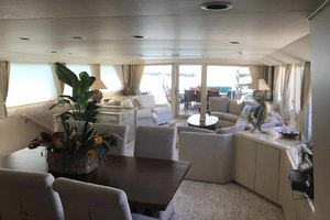 105' Broward Custom Extended 1990 Dining Area