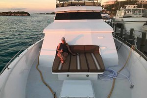 105' Broward Custom Extended 1990 Bow Sun Lounge