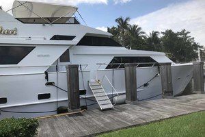 105' Broward Custom Extended 1990 Side Deck Entrance