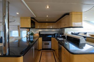65' Neptunus Flybridge Motor Yacht 2000 Galley Looking to Port