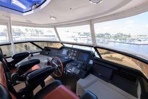 65' Neptunus Flybridge Motor Yacht 2000 Helm Area