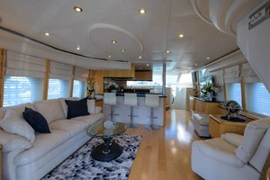 65' Neptunus Flybridge Motor Yacht 2000 Salon Looking Forward