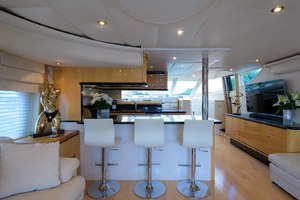 65' Neptunus Flybridge Motor Yacht 2000 Salon/Galley Breakfast Bar