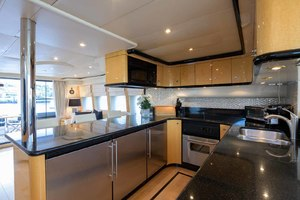 65' Neptunus Flybridge Motor Yacht 2000 Galley Looking Aft