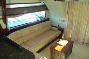 62' Neptunus Sedan Cruiser 2008 Salon Settee Looking Aft