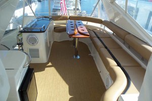 62' Neptunus Sedan Cruiser 2008 Flybridge Looking Aft