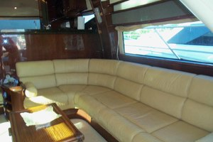 62' Neptunus Sedan Cruiser 2008 Salon Settee to Starboard