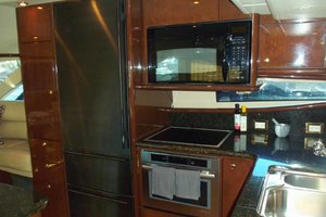 62' Neptunus Sedan Cruiser 2008 Galley Stand Up Refrigerator/Freezer