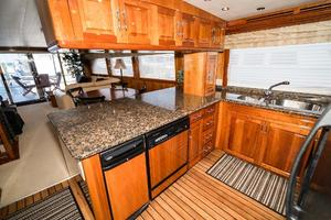 75' Hatteras 75 Motor Yacht 2004 Galley 2