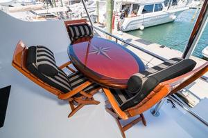75' Hatteras 75 Motor Yacht 2004 Aft Deck Table (Not Included)