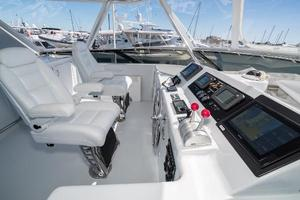 75' Hatteras 75 Motor Yacht 2004 Upgraded Helm Seating