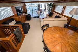 75' Hatteras 75 Motor Yacht 2004 Salon Facing Aft