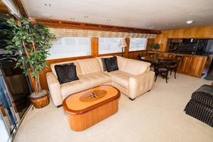 75' Hatteras 75 Motor Yacht 2004 Port Side L-Shaped Seating